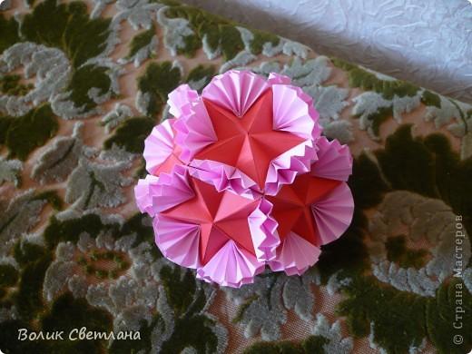 У Томоко Фусе эта кусудама называется Бабочка. По схеме из глубин интернета фото 5