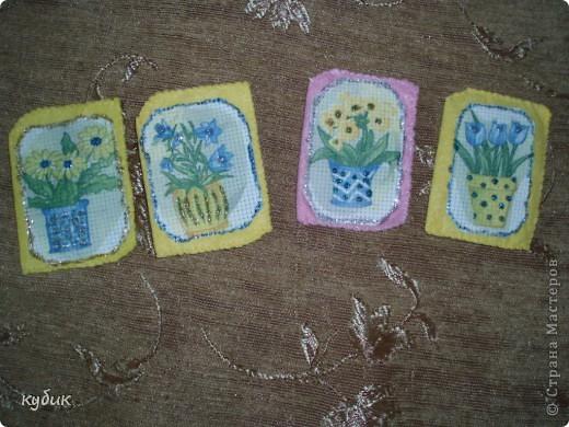 сделала вот такую серию на долги это декупаж на канве основа салфетки для пыли, первыми выбирают Ликмас и бибка, если конечно понравятся:)) фото 1