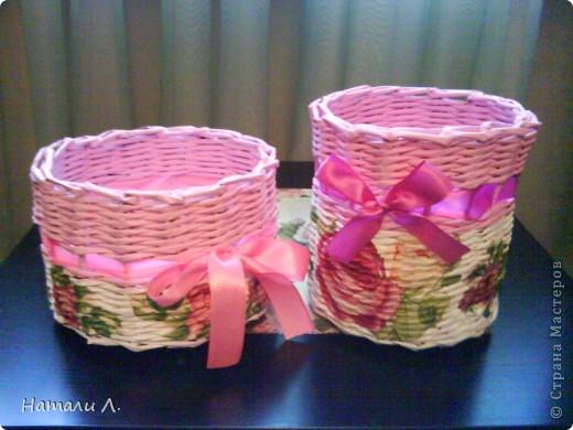 плетеночки (корзиночка, кашпо) фото 7