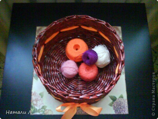 плетеночки (корзиночка, кашпо) фото 3