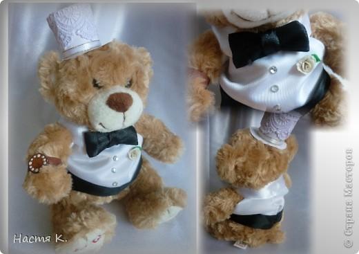 свадебные мишки (на машину) фото 3