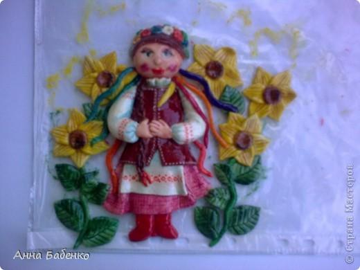 Спасибо Ларисе Ивановой за чудесную работу. Эта украиночка мне очень понравилась. Решила повторить. фото 4