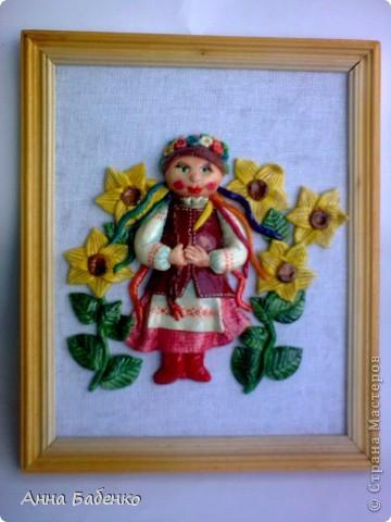 Спасибо Ларисе Ивановой за чудесную работу. Эта украиночка мне очень понравилась. Решила повторить. фото 1