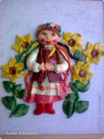 Спасибо Ларисе Ивановой за чудесную работу. Эта украиночка мне очень понравилась. Решила повторить. фото 5