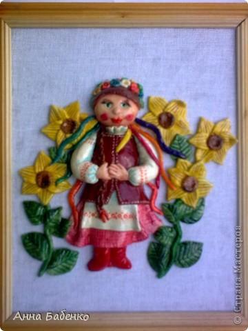 Спасибо Ларисе Ивановой за чудесную работу. Эта украиночка мне очень понравилась. Решила повторить. фото 6