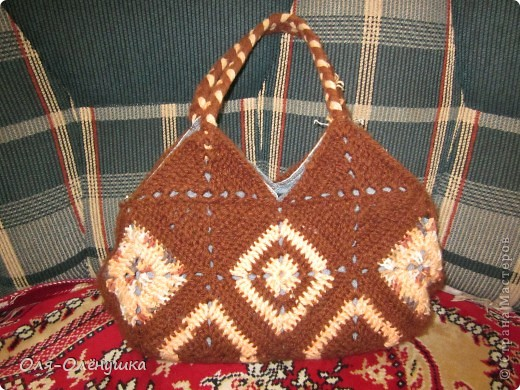 Очень понравилась мне сумочка, которую связала Женя http://stranamasterov.ru/user/30316 и я захотела повторить. фото 1