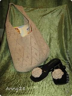 Летняя сумка и мини-декор шлепок. фото 1