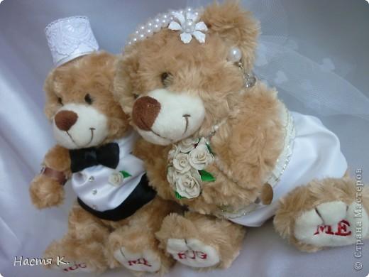 свадебные мишки (на машину) фото 4