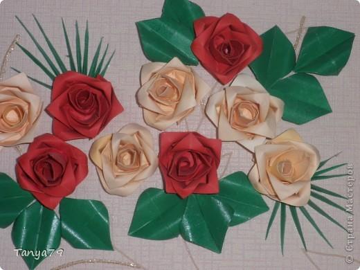 Очень люблю розы. Как-то   увидела такие розы и решила их сделать. Работу сделала давно, но только сейчас  ее выставляю.   фото 2