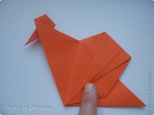 Птичий двор был излюбленной темой в живописи начала ХХ века. В начале ХХI-го века до него добралось и оригами. Все фигурки складываются очень просто и под силу даже маленьким деткам. фото 15