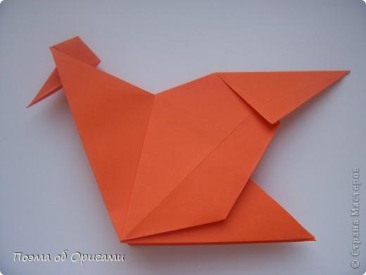 Птичий двор был излюбленной темой в живописи начала ХХ века. В начале ХХI-го века до него добралось и оригами. Все фигурки складываются очень просто и под силу даже маленьким деткам. фото 16