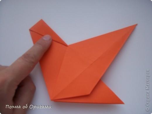 Птичий двор был излюбленной темой в живописи начала ХХ века. В начале ХХI-го века до него добралось и оригами. Все фигурки складываются очень просто и под силу даже маленьким деткам. фото 9