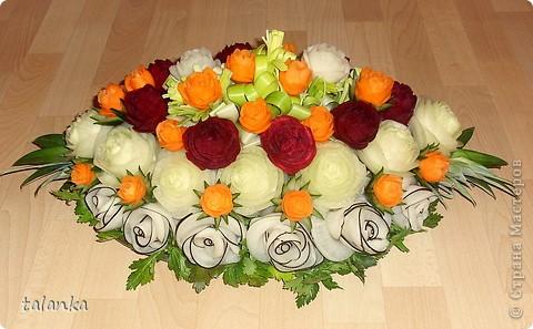 Веселенький букетик/кольраби,черная редька,морковь,лук-порей.../ фото 2