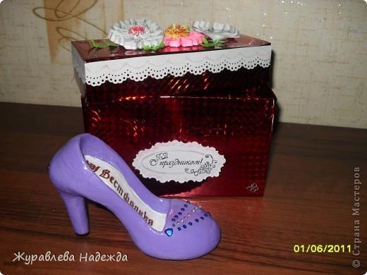 сестра попросила сделать туфельку в магазин обуви, в подарок на день торговли. фото 1