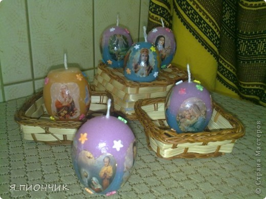 Свечи в форме яйца фото 1