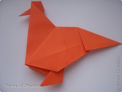 Птичий двор был излюбленной темой в живописи начала ХХ века. В начале ХХI-го века до него добралось и оригами. Все фигурки складываются очень просто и под силу даже маленьким деткам. фото 17