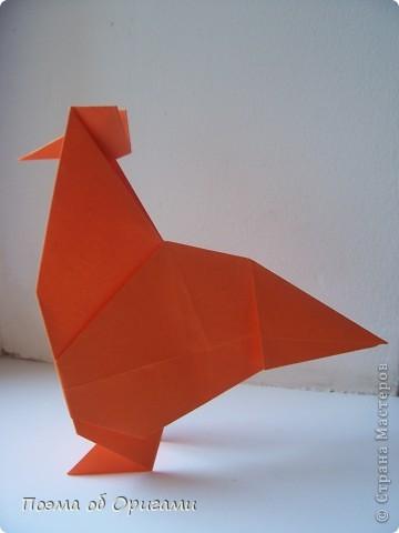 Птичий двор был излюбленной темой в живописи начала ХХ века. В начале ХХI-го века до него добралось и оригами. Все фигурки складываются очень просто и под силу даже маленьким деткам. фото 19
