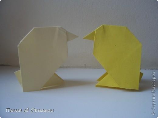 Птичий двор был излюбленной темой в живописи начала ХХ века. В начале ХХI-го века до него добралось и оригами. Все фигурки складываются очень просто и под силу даже маленьким деткам. фото 35