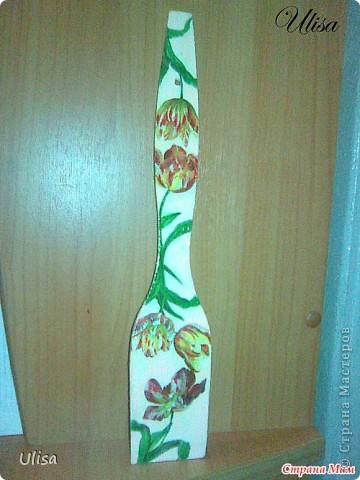 """Декупаж на массажке""""Орхидеи"""" фото 3"""