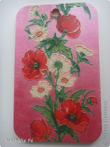 Салфетка, акриловая краска фото 5