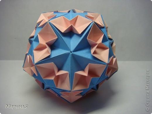 Кусудамы с книги Tomoko Fuse - Floral Globe. Обожаю собирать эти кусудамы. Очень легкие и приятные в сборке. Сборка без клея. Модули 8 на 4 см. Кусудама примерно 8-9 см.  фото 5