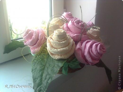 Корзина с розами фото 6
