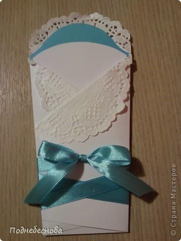 открытка-конверт новорожденному фото 1