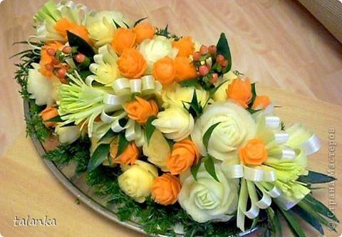 Веселенький букетик/кольраби,черная редька,морковь,лук-порей.../ фото 9