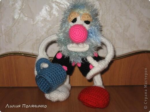 Вот такой чудик у меня связался на сайте амигуруми, благодаря Борисовой Марине фото 1