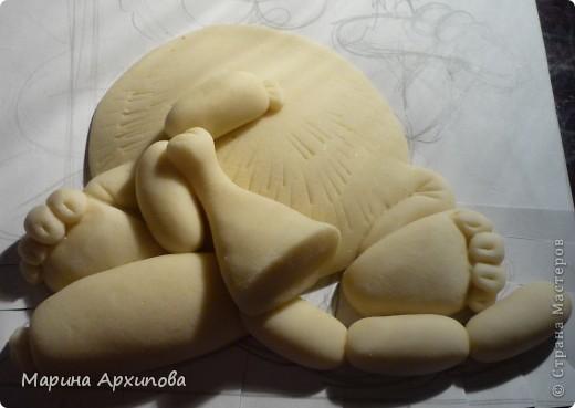 Мастер-класс Лепка Опять кот-обжорик Тесто соленое фото 8