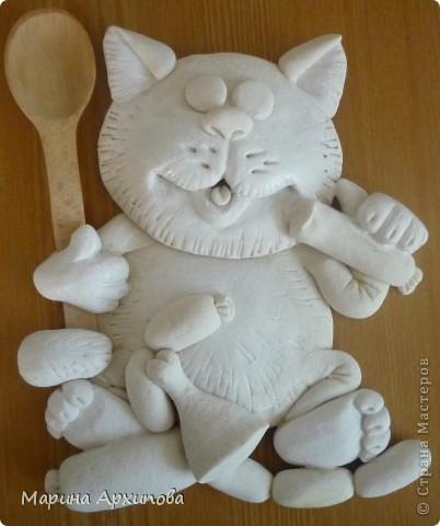 Мастер-класс Лепка Опять кот-обжорик Тесто соленое фото 15