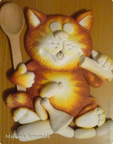 Мастер-класс Лепка Опять кот-обжорик Тесто соленое фото 20