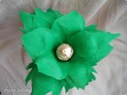 вот такой ананас получился у меня, за идею спасибо Мальве http://stranamasterov.ru/node/195506?c=favorite Клеила на двухсторонний скотч, ушло чуть меньше 500гр. конфет, листья из упаковочной бумаги для цветов! фото 4