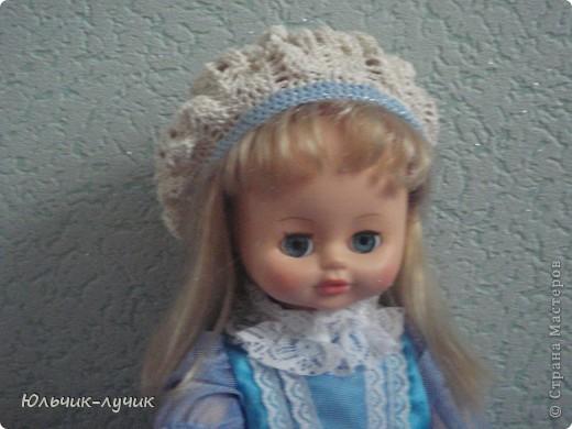 Голубоглазой кукле идут береты! фото 1