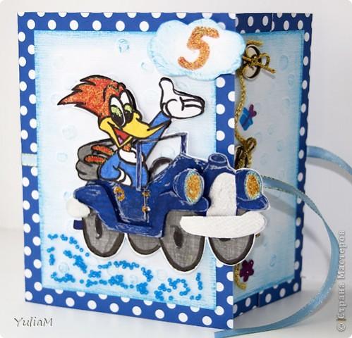 И снова всем привет! Дорвалась я сегодня до компьютера:)) Представляю вам открытку для мальчика на маленький юбилей.  фото 2