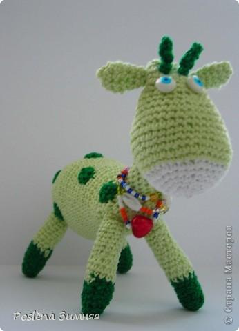 Увидела у ЖанныС жирафика (http://stranamasterov.ru/node/157654) и все, захотелось такого же! Синий жирафик. С него все и началось... фото 20