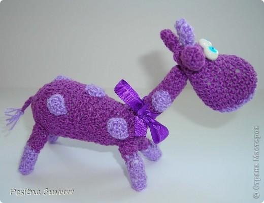 Увидела у ЖанныС жирафика (http://stranamasterov.ru/node/157654) и все, захотелось такого же! Синий жирафик. С него все и началось... фото 7