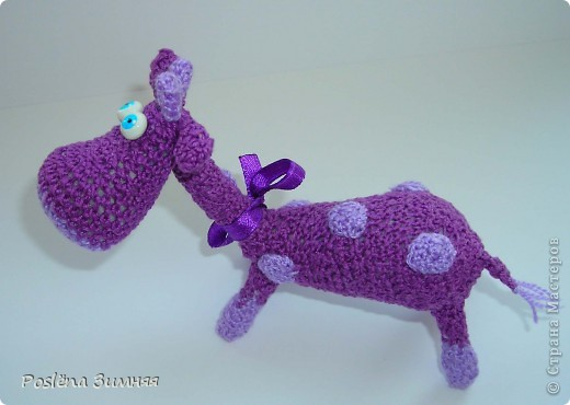 Увидела у ЖанныС жирафика (http://stranamasterov.ru/node/157654) и все, захотелось такого же! Синий жирафик. С него все и началось... фото 9