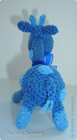 Увидела у ЖанныС жирафика (http://stranamasterov.ru/node/157654) и все, захотелось такого же! Синий жирафик. С него все и началось... фото 4