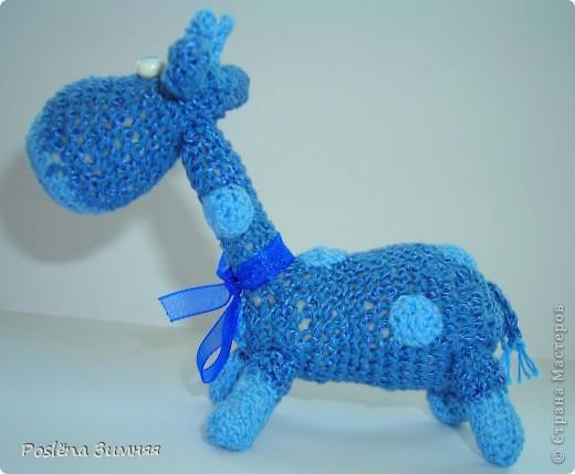 Увидела у ЖанныС жирафика (http://stranamasterov.ru/node/157654) и все, захотелось такого же! Синий жирафик. С него все и началось... фото 3