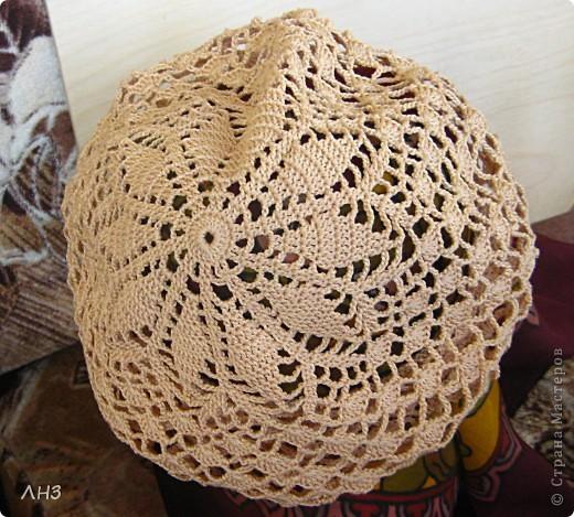 Вязание крючком Беретик