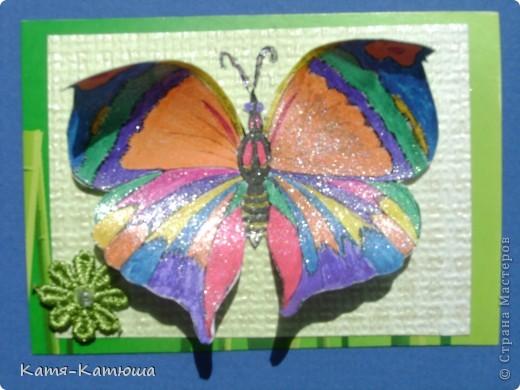 Бабочки раскрашены гелевыми ручками с блёстками. Поэтому не получается сфотографировать хорошо. фото 4