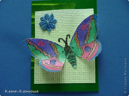 Бабочки раскрашены гелевыми ручками с блёстками. Поэтому не получается сфотографировать хорошо. фото 3