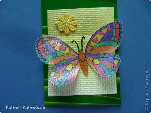 Бабочки раскрашены гелевыми ручками с блёстками. Поэтому не получается сфотографировать хорошо. фото 5
