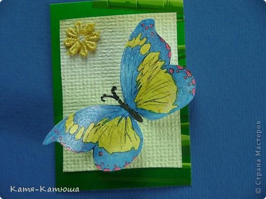 Бабочки раскрашены гелевыми ручками с блёстками. Поэтому не получается сфотографировать хорошо. фото 7