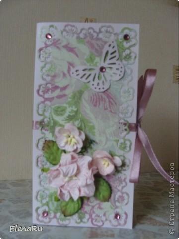 На День рождения хорошей знакомой сделала вот такую коробочку для шоколадки! фото 1