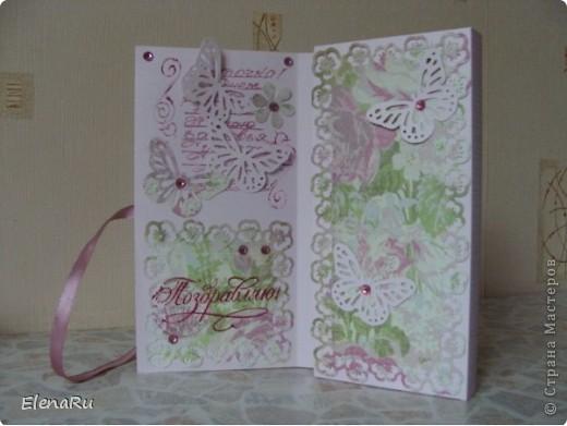 На День рождения хорошей знакомой сделала вот такую коробочку для шоколадки! фото 2