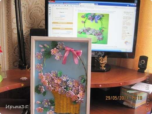 Вот такие фиалочки я сделала своей маме в подарок на день рождения. На их создание меня вдохновила Ольга Ольшак и МК, размещенный здесь: http://stranamasterov.ru/node/146378?tid=451%2C587 . фото 3