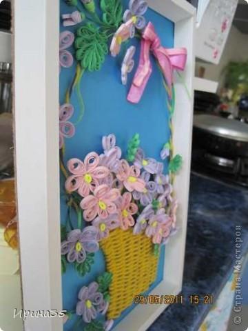 Вот такие фиалочки я сделала своей маме в подарок на день рождения. На их создание меня вдохновила Ольга Ольшак и МК, размещенный здесь: http://stranamasterov.ru/node/146378?tid=451%2C587 . фото 4