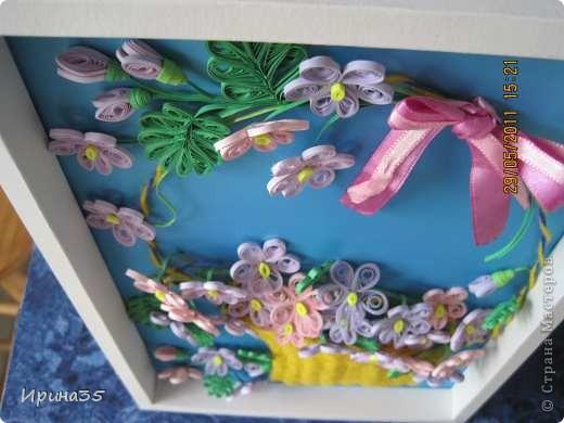 Вот такие фиалочки я сделала своей маме в подарок на день рождения. На их создание меня вдохновила Ольга Ольшак и МК, размещенный здесь: http://stranamasterov.ru/node/146378?tid=451%2C587 . фото 5